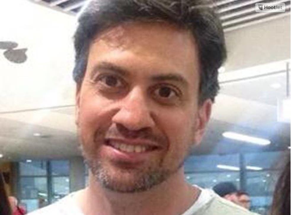 Ed Miliband is spotted with a beard
