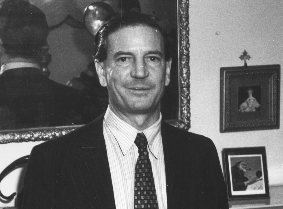 Kim Philby (1911 - 1988) the British double agent during a press conference