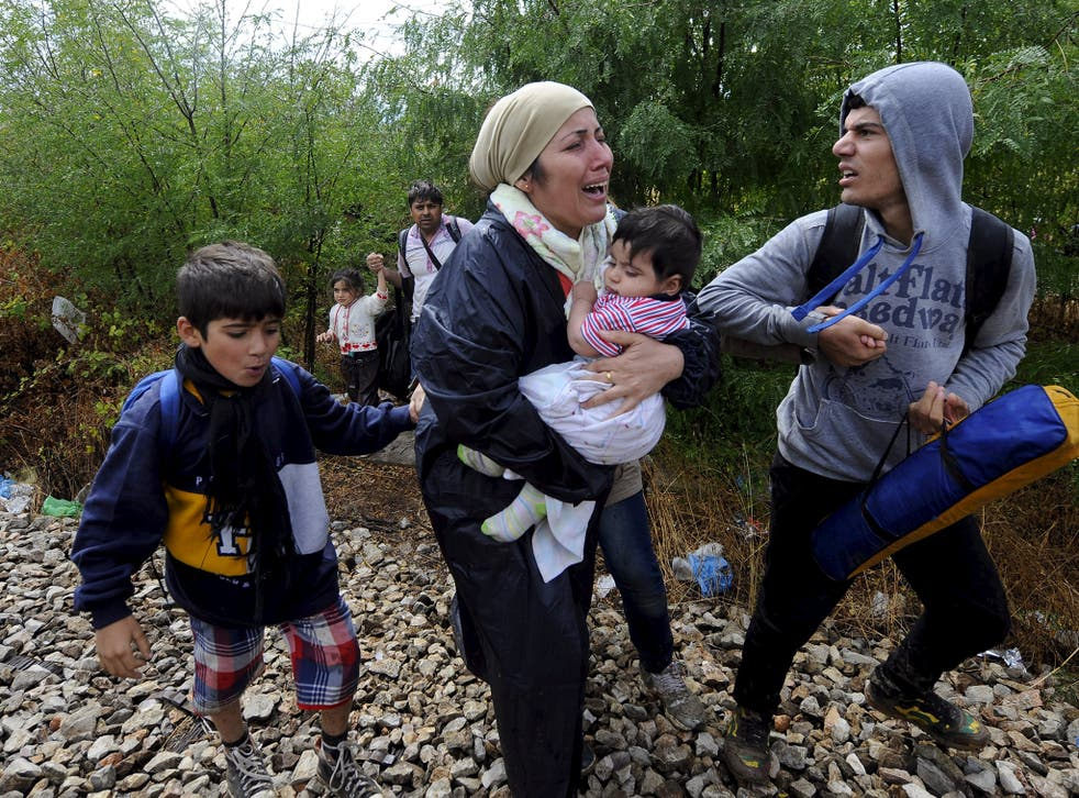 Families with small children have endured days in the open
