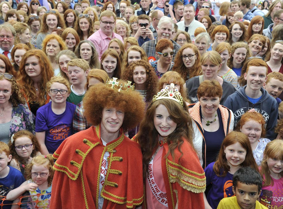 Newly crowned Redhead Queen, Grainne Kenna and Redhead King Alan Reidy (Getty)