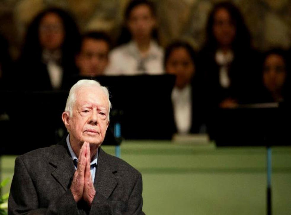 Mr Carter urged people to put their trust in God