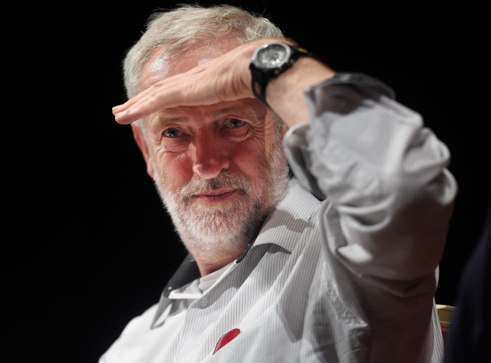 Jeremy Corbyn during a press conference at Ealing Town Hall in west London