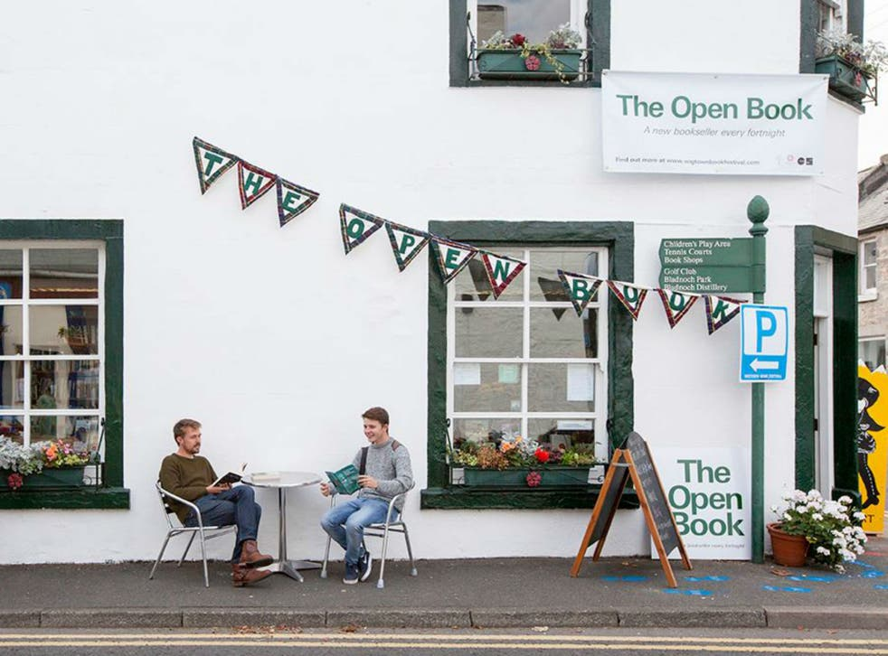 The Open Book store in Wigtown, Scotland is opening its doors to holidaymakers
