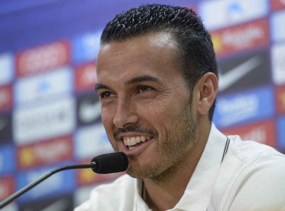 Pedro speaks at his Barcelona press conference today