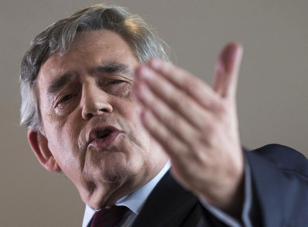 Former prime minister Gordon Brown said a vote to Remain was 'stronger for jobs, for rights at workp