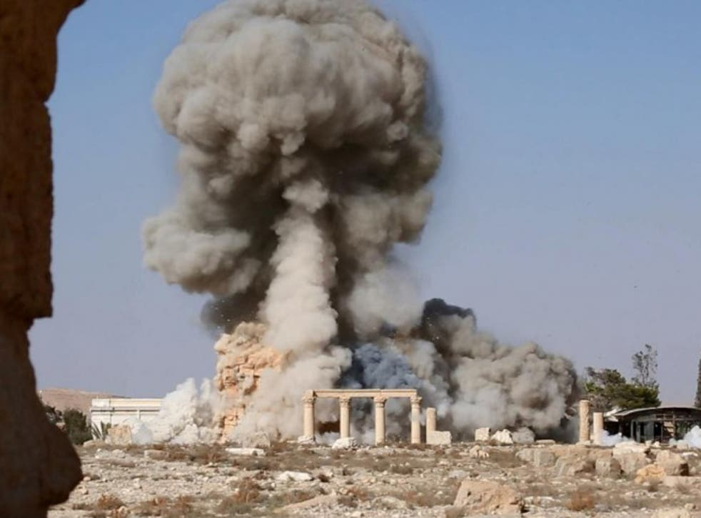 Isis released images purporting to show the destruction of the Baalshamin Temple in Palmyra