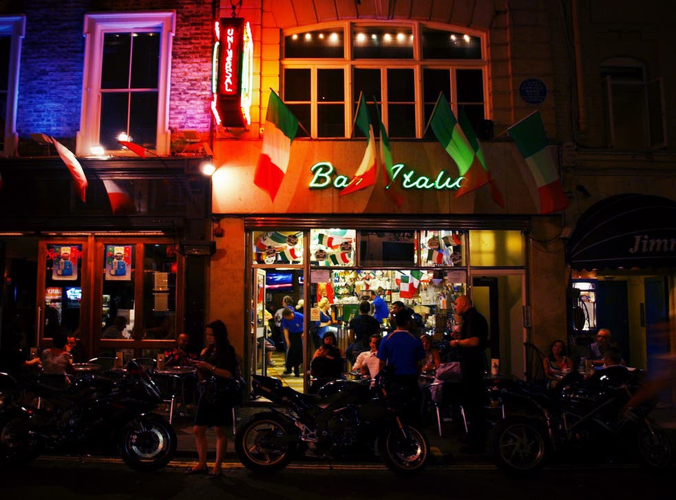 Bar Italia, a longstanding fixture of Soho