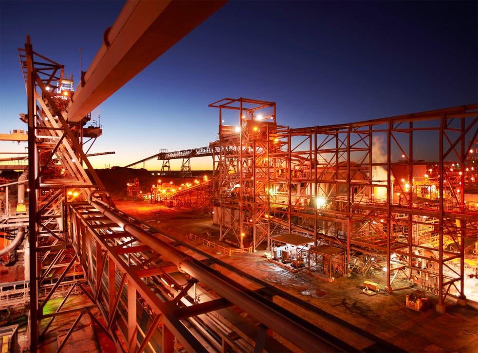 A BHP Billiton copper mine in Australia. Falling prices for the commodity ravaged profits