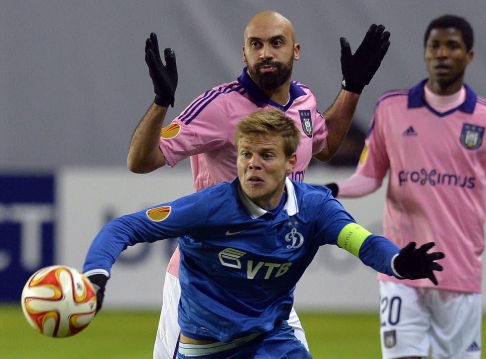 Aleksandr Kokorin in action for Dynamo Moscow