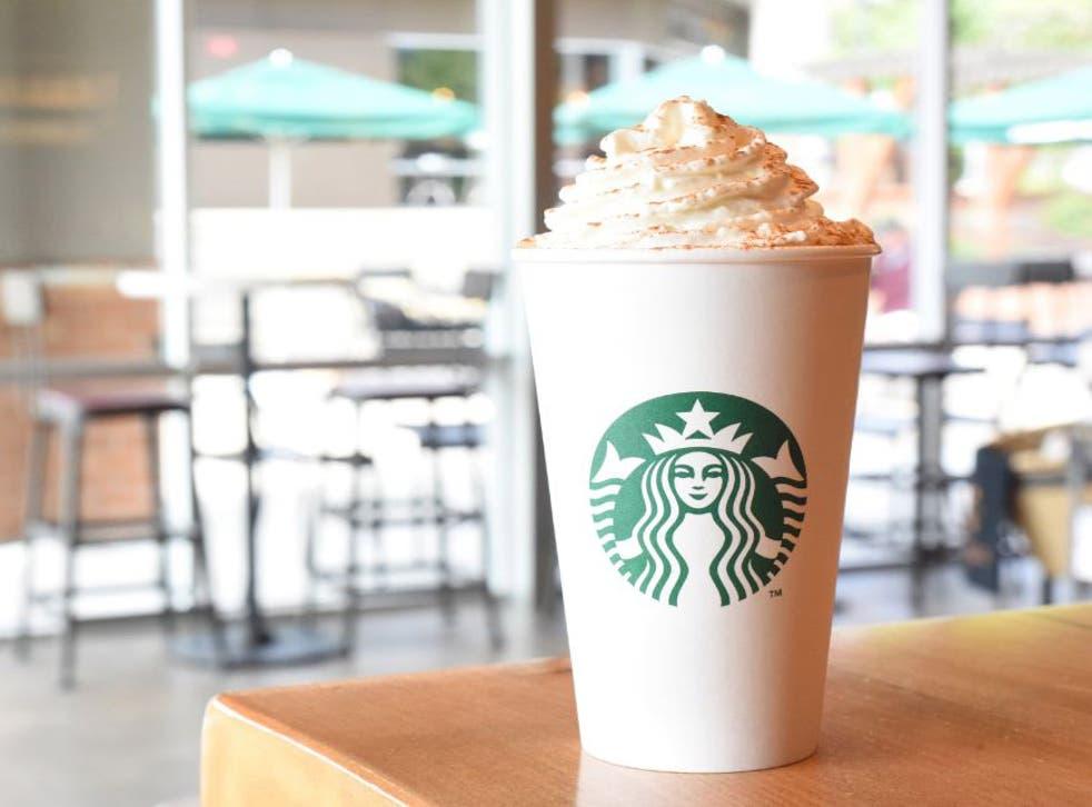 Starbucks' venti hot mulled fruit in grape with chai, orange and cinnamon has 99g of sugar per serving