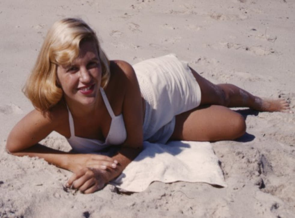 Sylvia Plath during a beach holiday in 1953