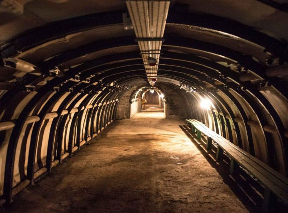 An old mine shaft in Walbrzych, Poland, potentially similar to the Nazi tunnels in the region