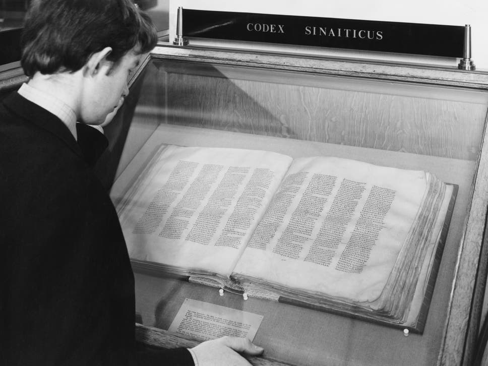 The Codex Sinaiticus Was Written On Parchment In 4th Century