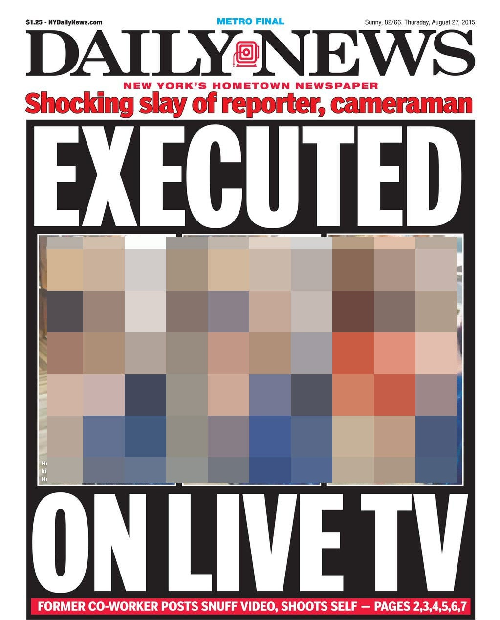 New York Daily News: Virginia Shooting: New York Daily News And Other