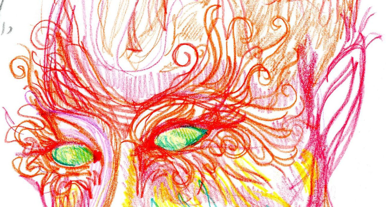 Artist takes LSD, draws herself over different stages of the 9-hour trip to show its effects