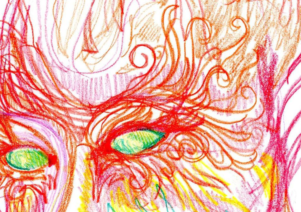 Artist takes LSD, draws herself over different stages of the