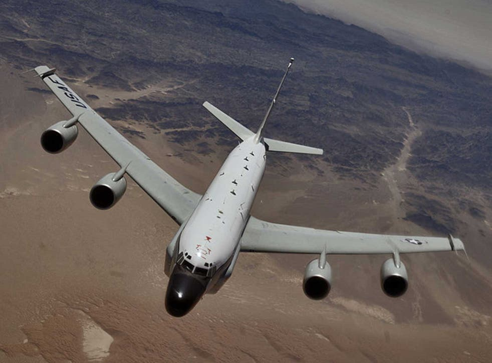 The RC-135V aeroplane, stock picture