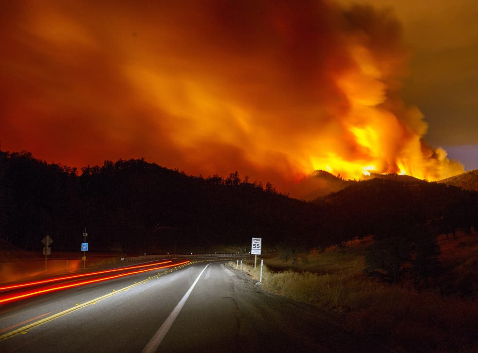 The Rocky Fire in California earlier this month, where 9,000 firefighters tried to contain a blaze that ravaged 60,000 acres