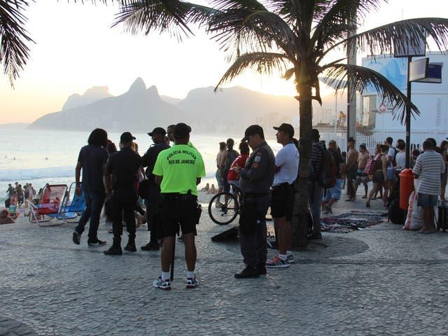 Police patrol Arpoador Beach