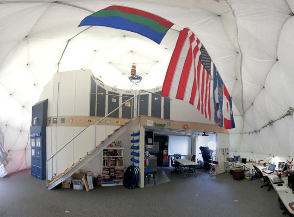 The dome is 36 feet (11 meters) in diameter and 20 feet (six meters) tall (AFP)