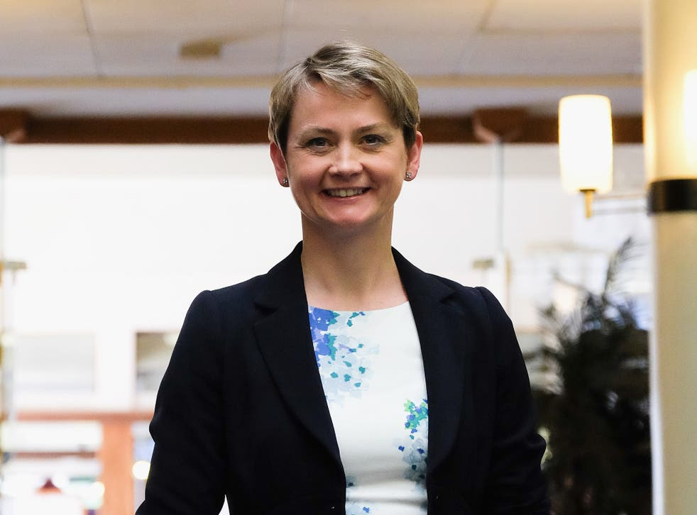 Yvette Cooper attends a question and answer session with party supporters at the County Hall buildings on August 17, 2015