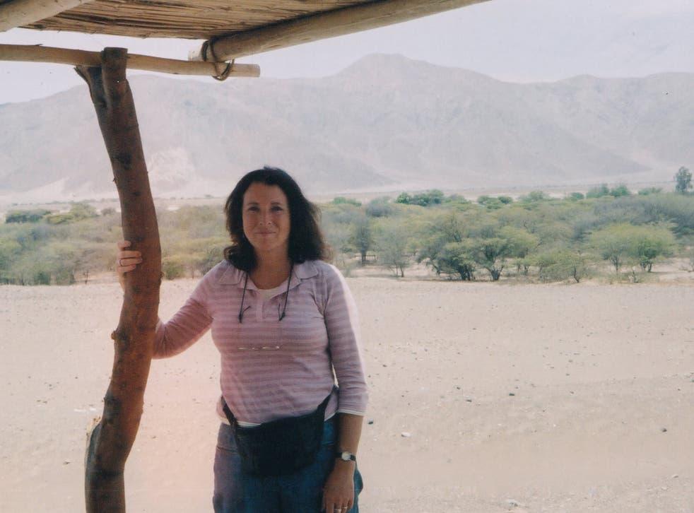 Diane Esguerra in Peru in December 2005