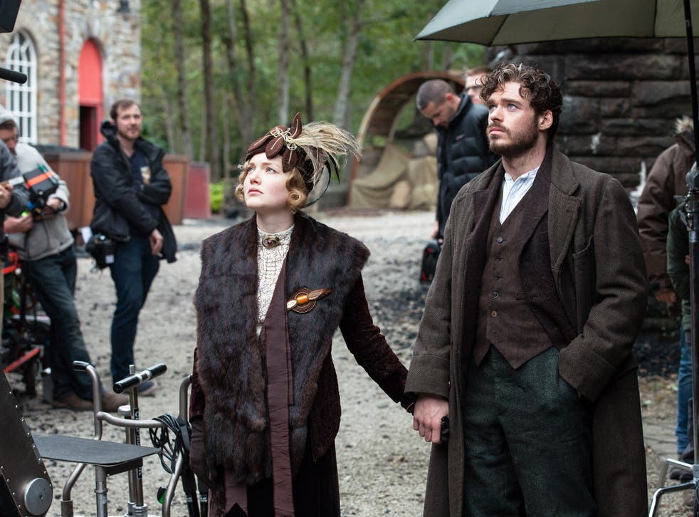 Eyeing up: Holliday Grainger and Richard Madden (left) as Lady Chatterley and Mellors in 'Lady Chatterley's Lover'