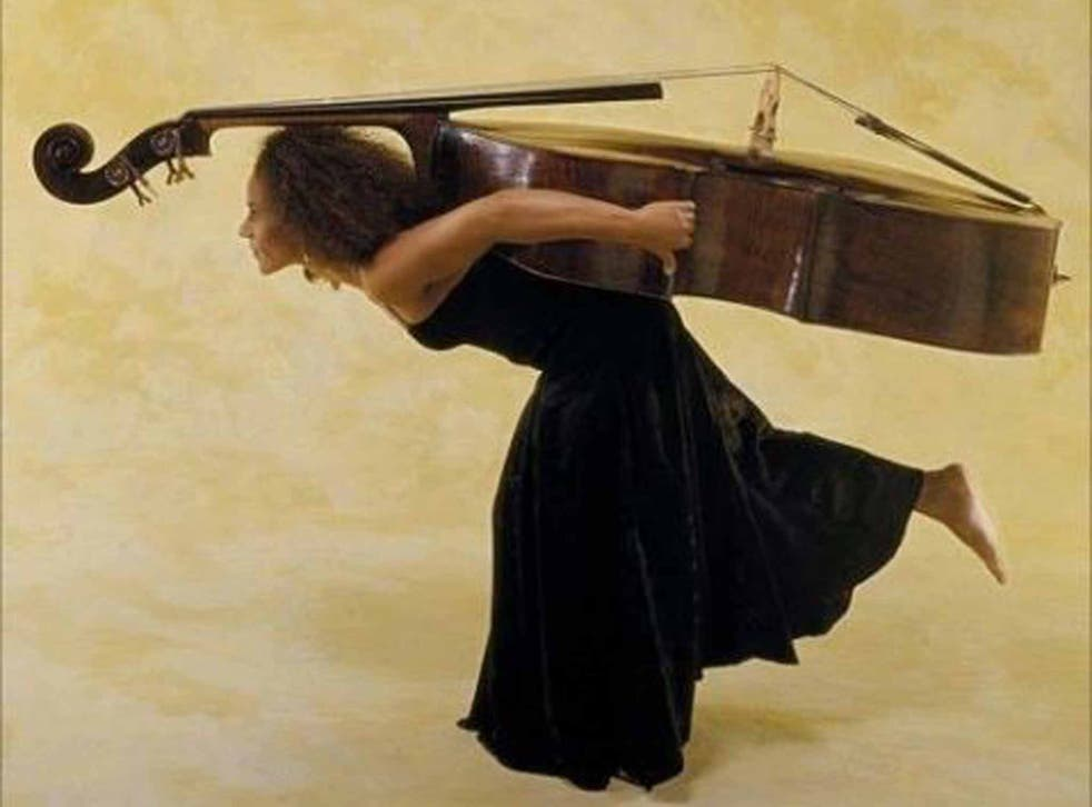 The double bassist Chi-chi Nwanoku, the founder of Chineke!