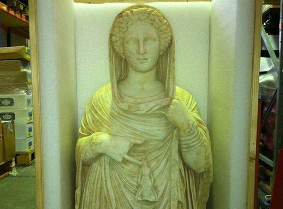 The statue from ancient Libya found in a west London warehouse