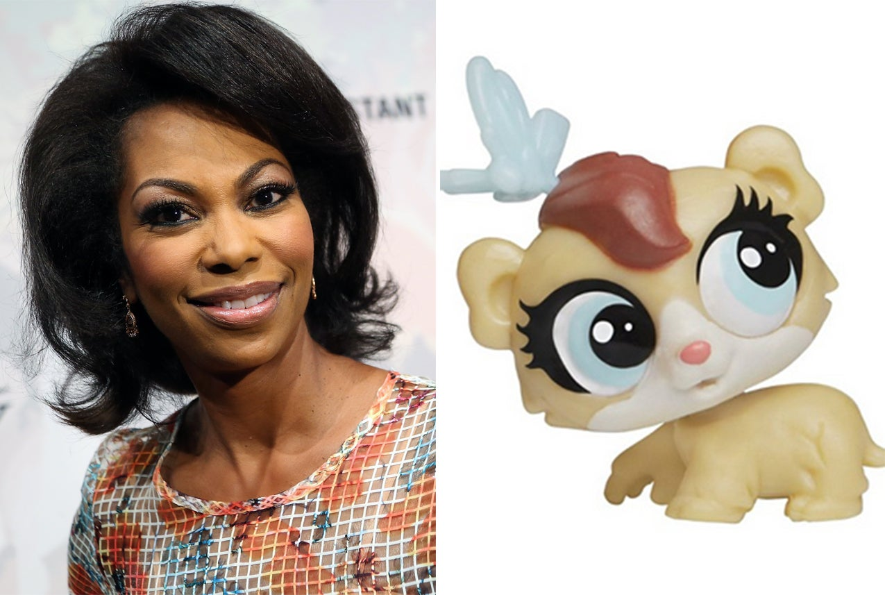 Harris Faulkner and the hamster toy named after her