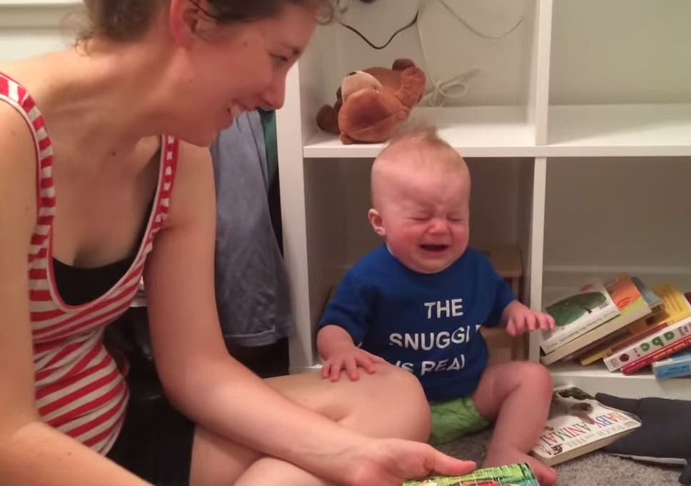 This little boy loves books so much that he cries when his