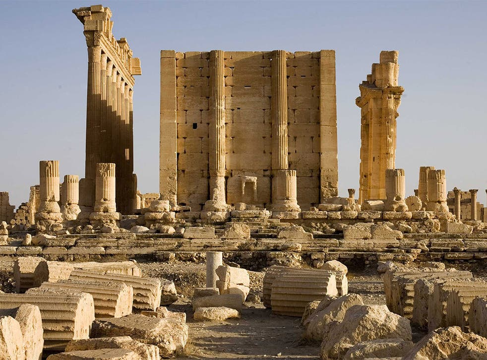 The Temple of Bel in the ancient city of Palmyra which Isis destroyed at the weekend