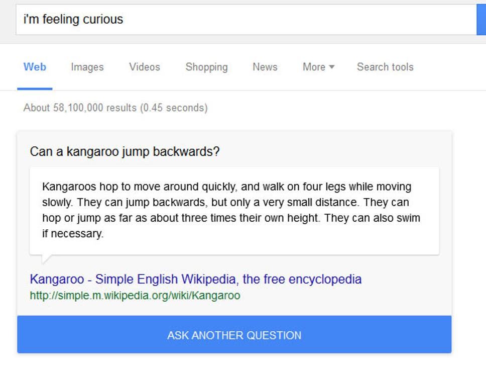 google launches fun fact search trick for trivia lovers