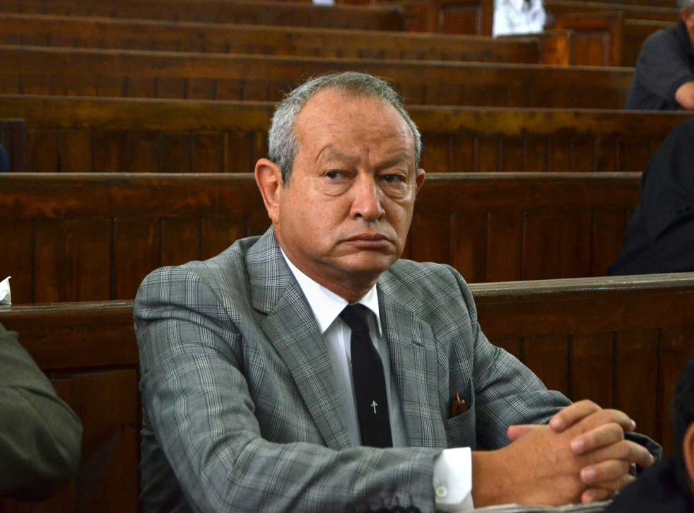 Sawiris, pictured here testifying in the defence of the Al Jazeera journalists imprisoned in Egypt, has offered to buy an island
