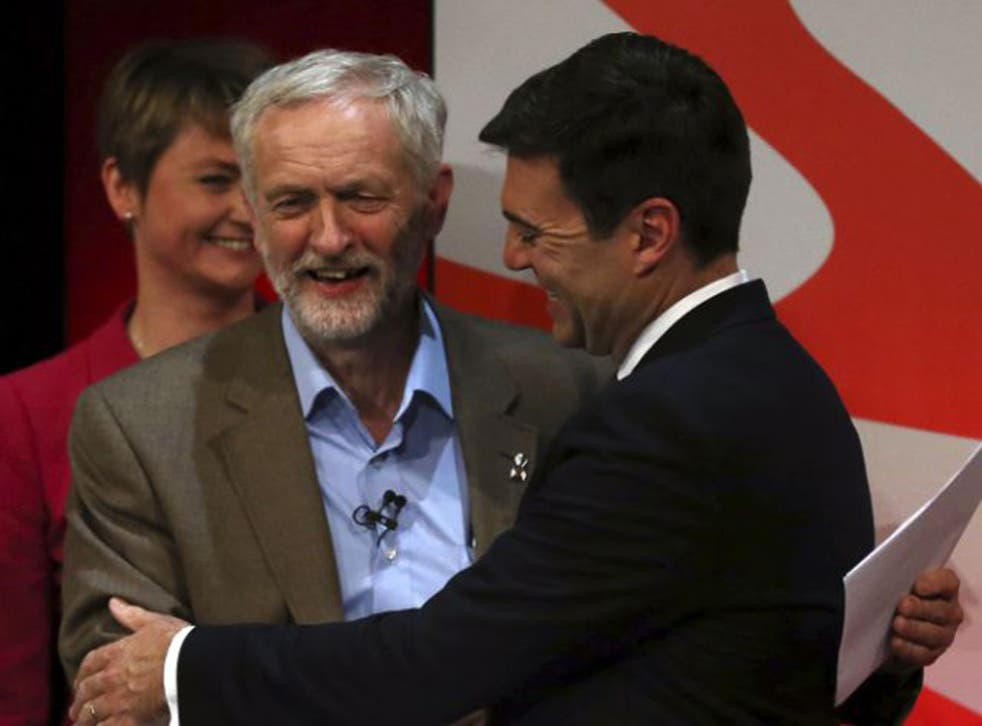 Andy Burnham said Jeremy Corbyn would be 'a disaster' for the Labour party