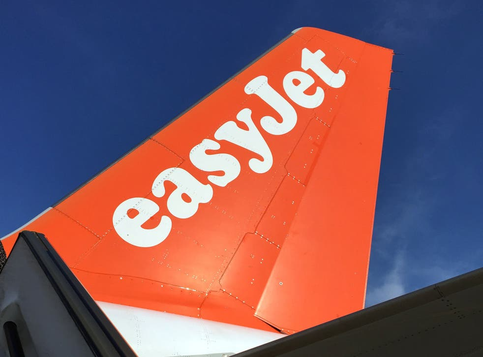An Airbus in British airline EasyJet livery