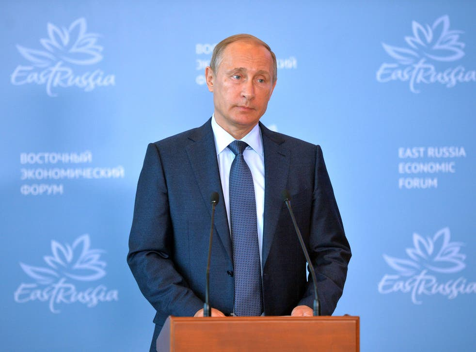 Russian President Vladimir Putin delivers a speech at the Russia's first ever Eastern Economic Forum