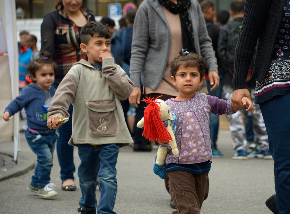 A group of 167 refugees arrived in Munich by train from Austria