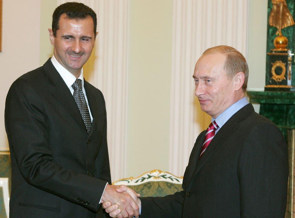 Putin with President Assad in 2005