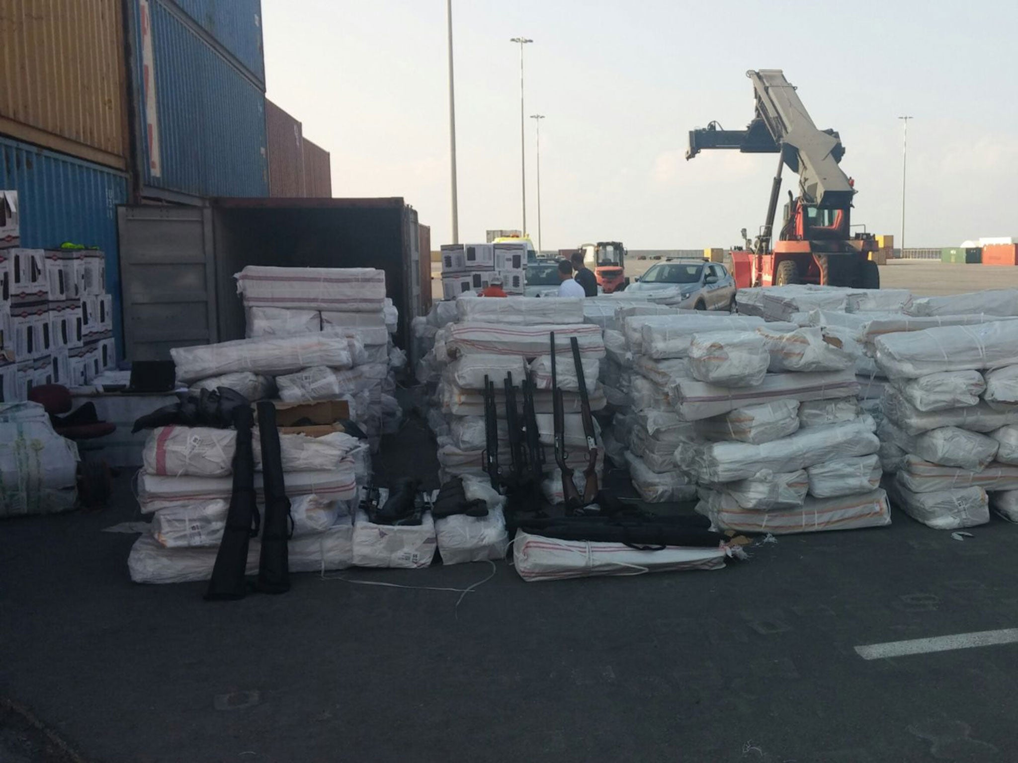 Coastguards seize huge stash of arms and ammo 'bound for Libya'