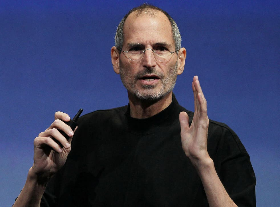 Late Apple CEO Steve Jobs pictured speaking during an Apple event in April 2010