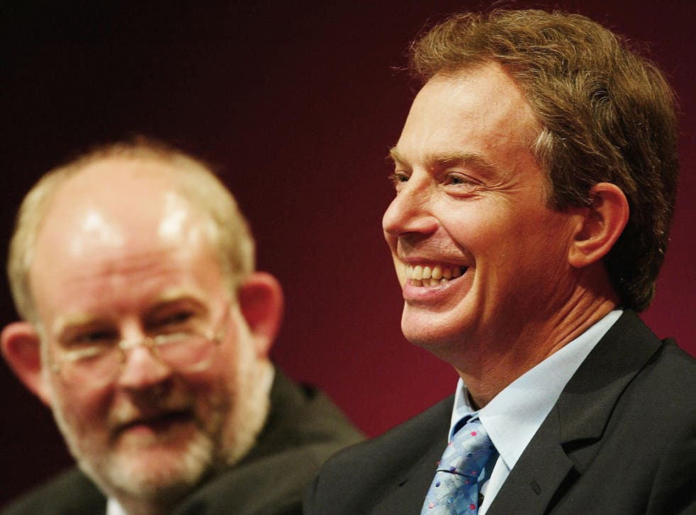 Follow my leader: Clarke gazes at Blair in 2002. In 2004, he became Home Secretary; two years later, Blair sacked him
