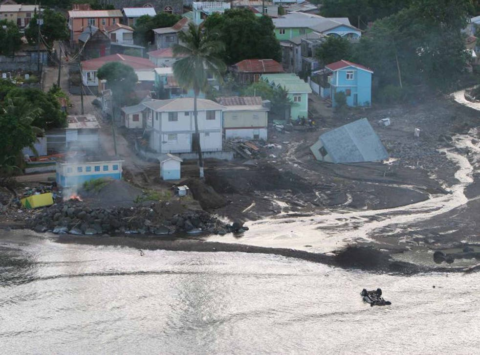 A village in northern Dominica earlier this week