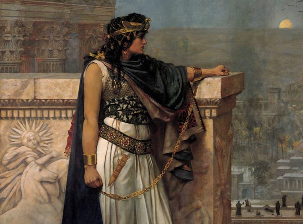 'Queen Zenobia's Last Look Upon Palmyra' by Herbert Schmalz
