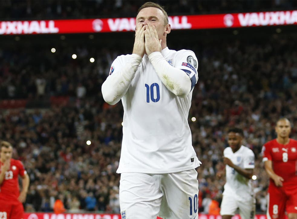 An emotional Wayne Rooney after breaking the record