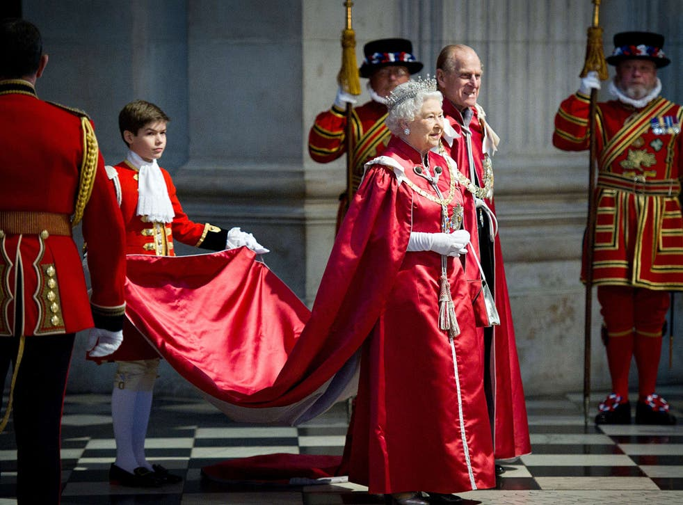 Queen Elizabeth II and Prince Philip at St Paul's Cathedral in 2012