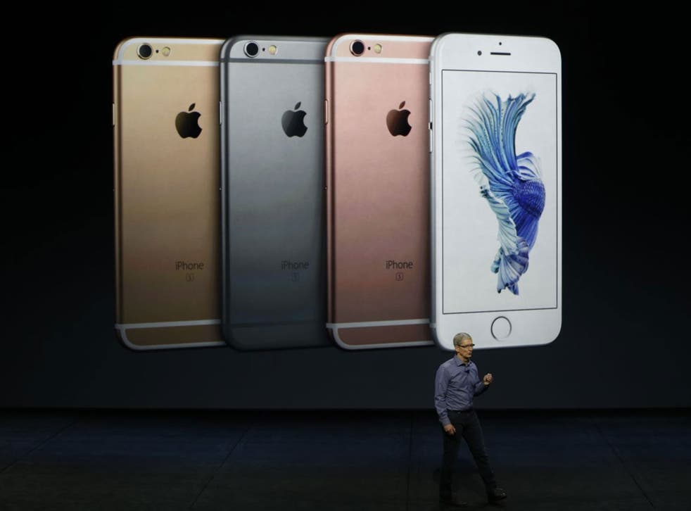 Apple CEO Tim Cook speaks about the new iPhone 6S and 6S Plus at an Apple launch event at the Bill Graham Civic Auditorium in San Francisco, California, USA, 09 September 2015. Media reports indicate a launch of updated iPhone models, updated iPads and a