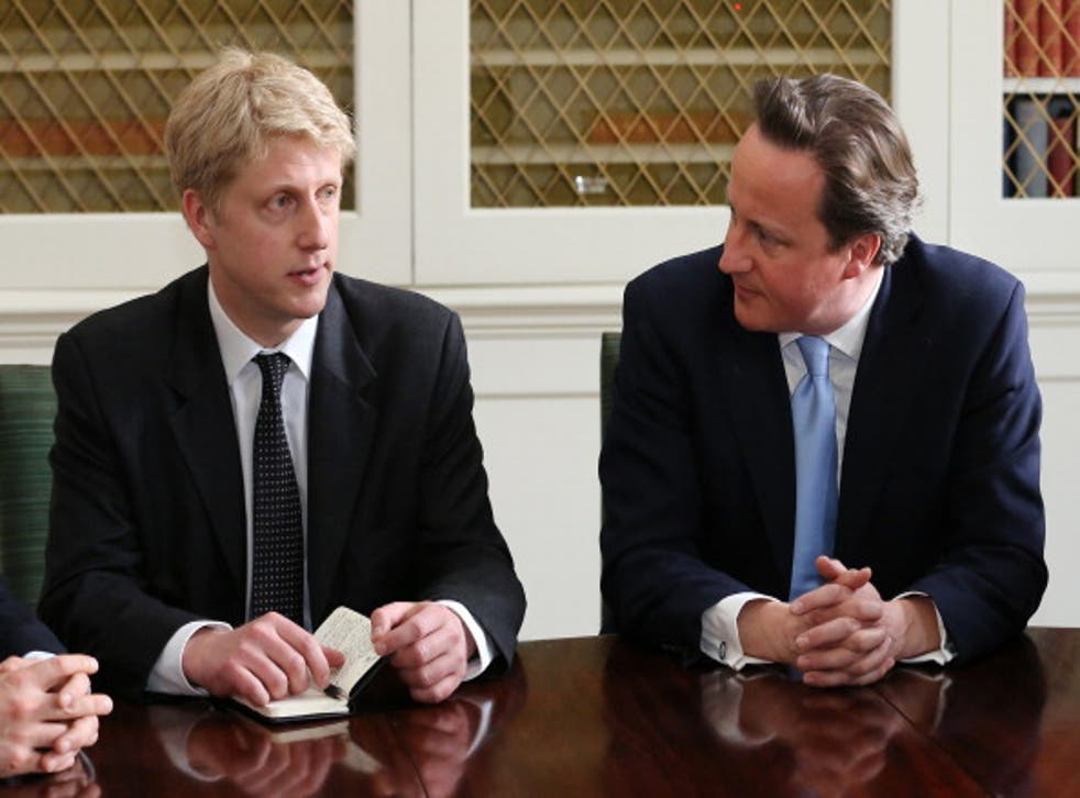 Mr Johnson, left, says the Tories are committed to maintaining the UK's 'world-class education system while living within its means'
