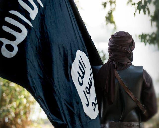 <p>An image from Isis's Dabiq propaganda magazine</p>