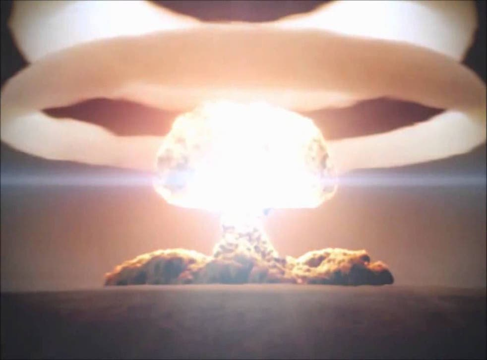 A mushroom cloud from the most powerful nuclear weapon ever detonated, the Tsara Bomba